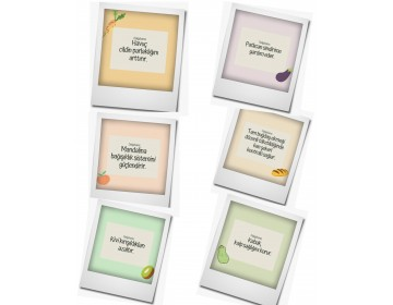 Magnet Buzdolabı Magneti Sağlıklı Meyveler Serisi
